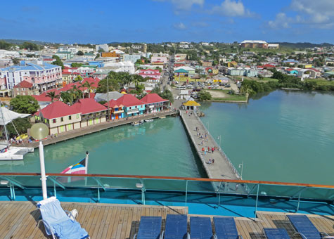 Cruise Terminal at St John's in Antigua
